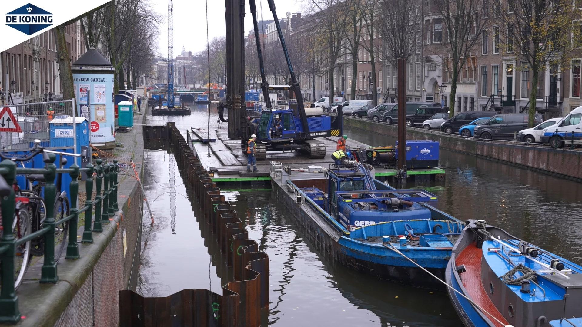 Noodmaatregelen kademuren Amsterdam
